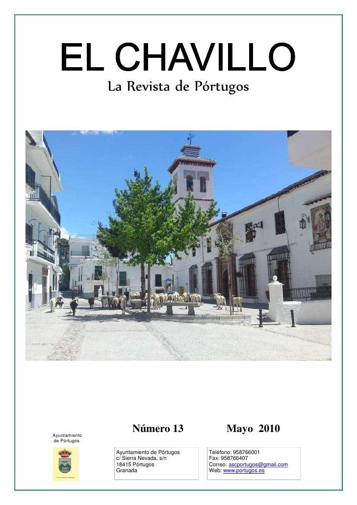 La Revista de Pórtugos     Ayuntamiento                       Número 13                  Mayo 2010 de Pórtugos            ...