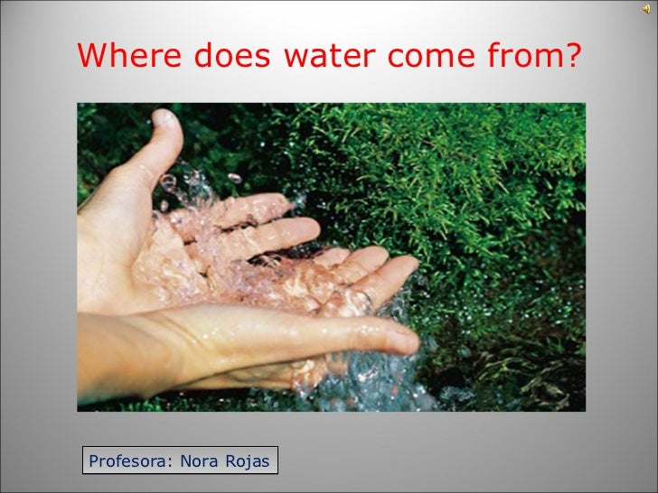 Where does water come from?Profesora: Nora Rojas