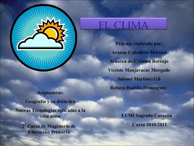 El clima.presentacion power point
