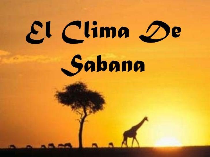El Clima De Sabana