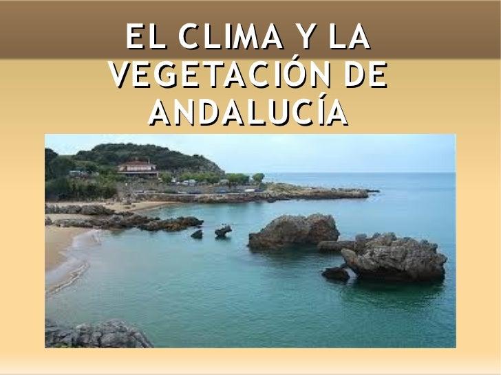 EL C LIMA Y LAVEG ETAC IÓN DE  ANDALUC ÍA