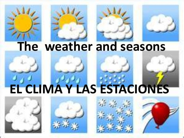 The weather and seasons EL CLIMA Y LAS ESTACIONES