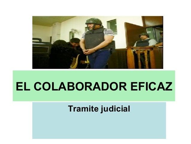 EL COLABORADOR EFICAZ Tramite judicial