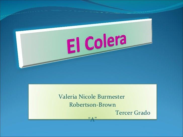 El cólera. Por Valeria B.