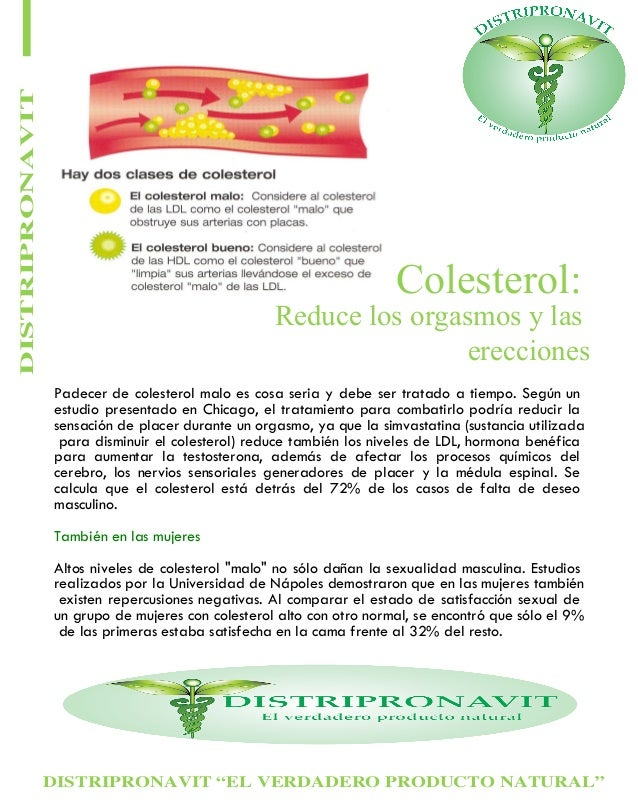 """DISTRIPRONAVIT """"EL VERDADERO PRODUCTO NATURAL"""" DISTRIPRONAVIT Colesterol: Padecer de colesterol malo es cosa seria y debe ..."""