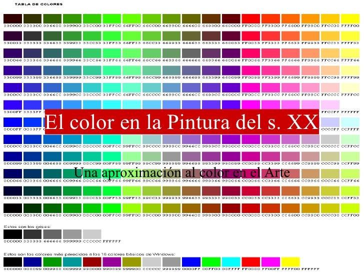 El color en la pintura expresionista for Colore de pintura
