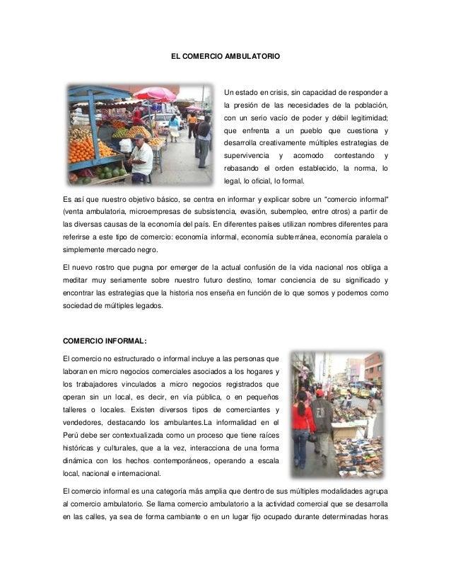 EL COMERCIO AMBULATORIO                                                Un estado en crisis, sin capacidad de responder a  ...