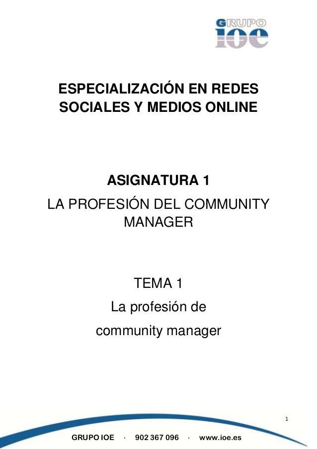 El trabajo de community manager