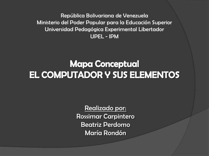 El computador y sus elementos.