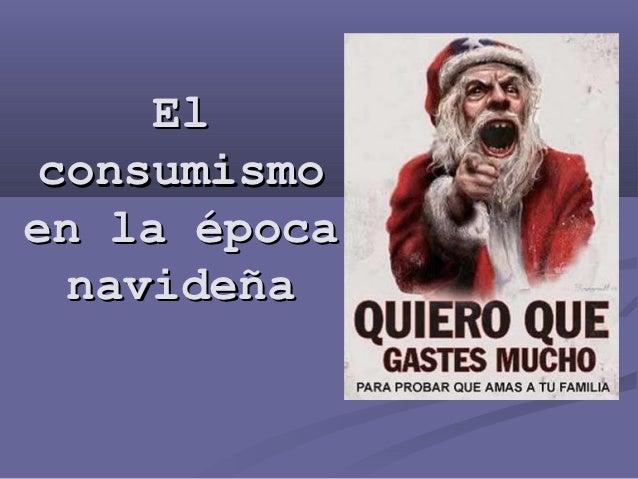 El consumismo en la época navideña