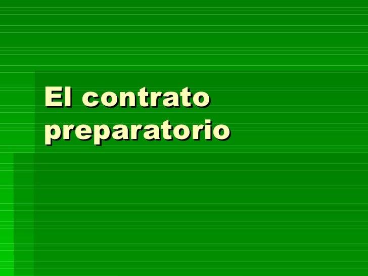 El contrato preparatorio