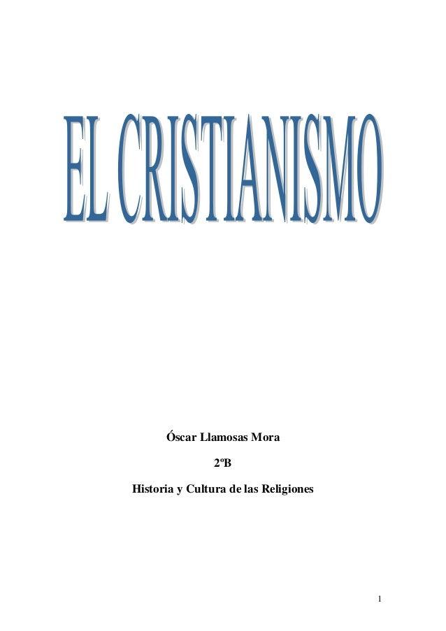1 Óscar Llamosas Mora 2ºB Historia y Cultura de las Religiones