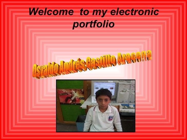 Elctronic Portfolio  Osvaldo