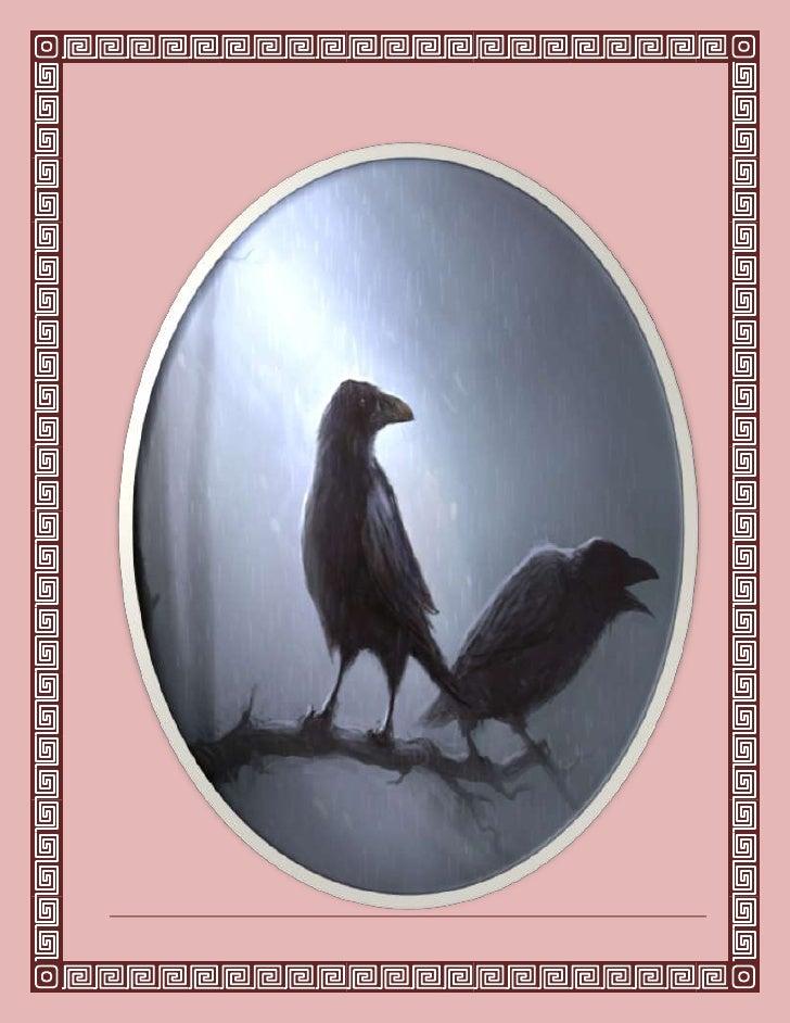 Edgar Allan Poeel cuervo<br />Una vez, al filo de una lúgubre media noche,mientras débil y cansado, en tristes reflexiones...
