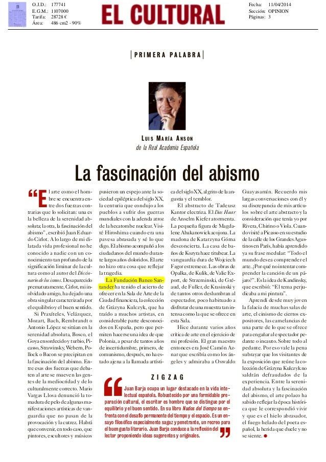 Luis María Anson sobre la 'Grażyna Kulczyk Collection'