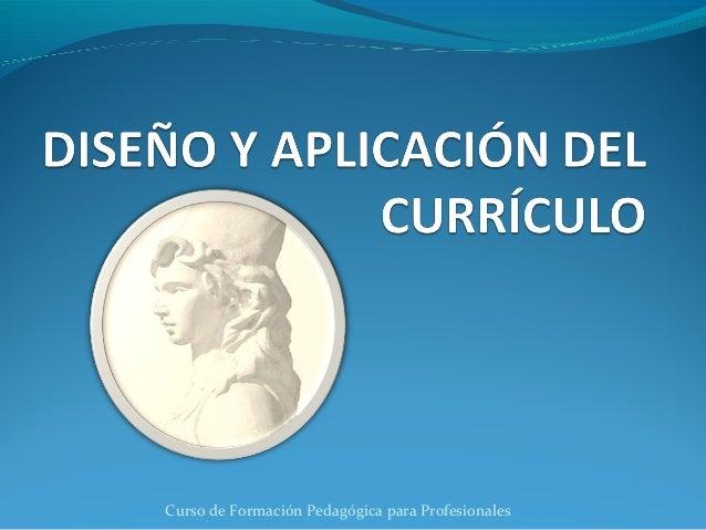 Curso de Formación Pedagógica para Profesionales