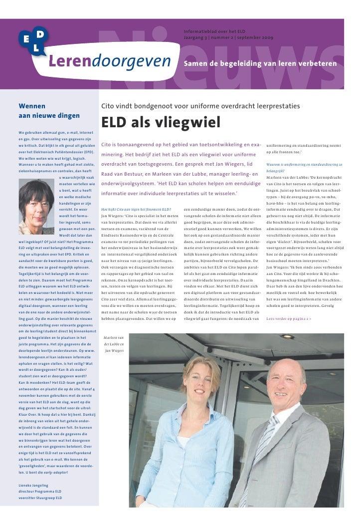 Informatieblad over het ELD                                                                                               ...