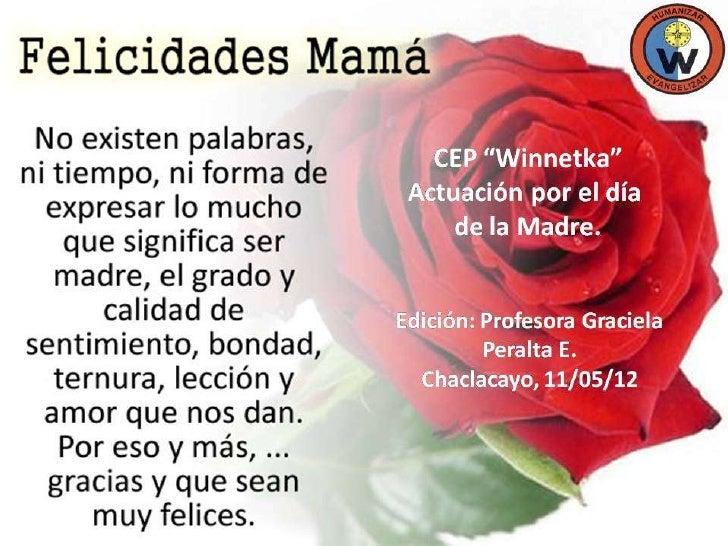 El Día de la madre en el colegio Winnetka 11- 05-12