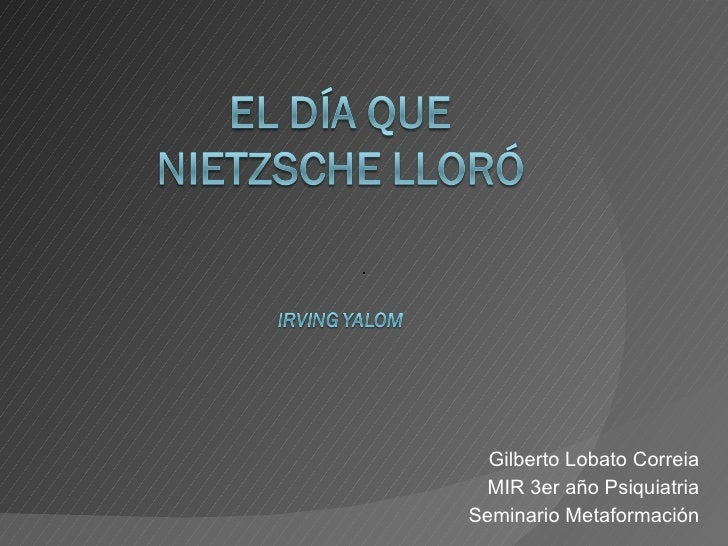 Gilberto Lobato Correia MIR 3er año Psiquiatria Seminario Metaformación