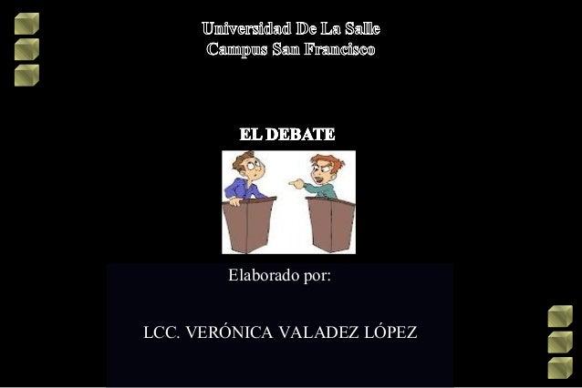 El debate y sus características
