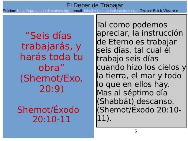 Resultado de imagen para EXODO 20:9,11