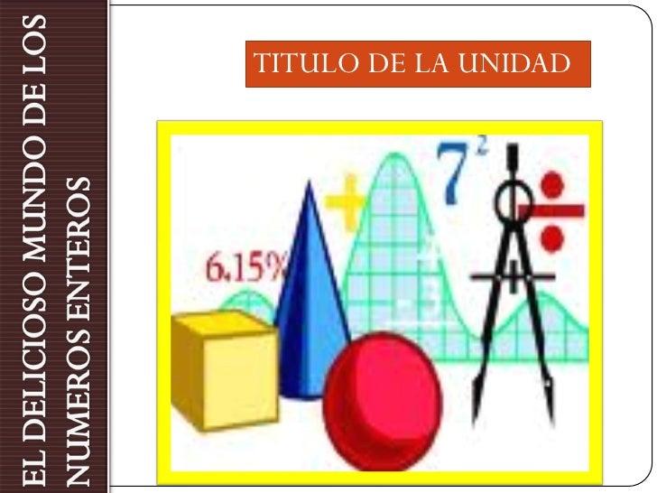 TITULO DE LA UNIDAD