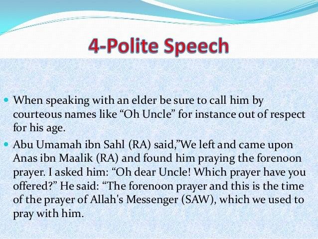 The Prophet s  pbuh  Mercy towards the Elderly   islam ru JFC CZ as