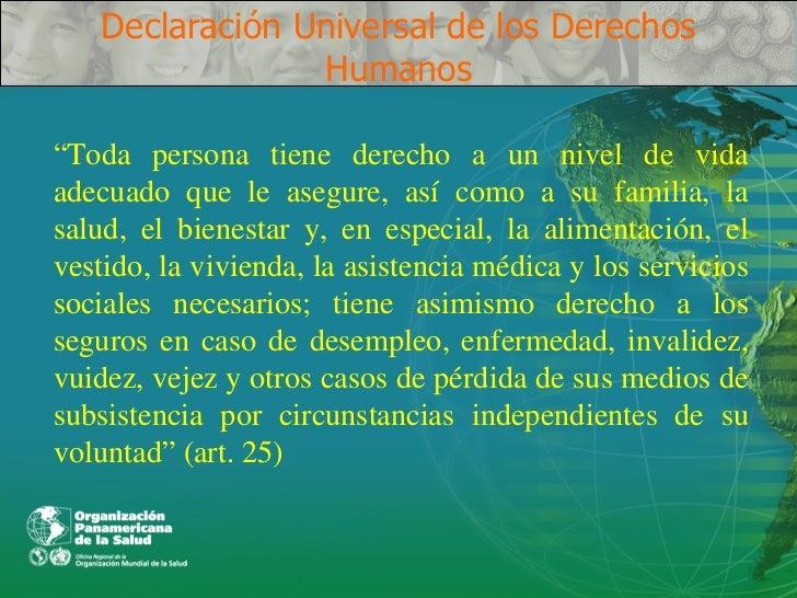 El derecho a la salud en los ddhh for Universal definicion