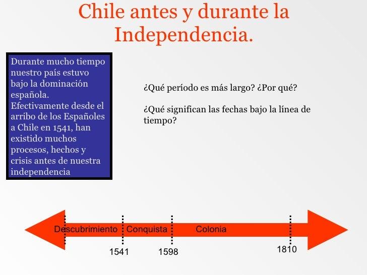 Chile antes y durante la Independencia. Durante mucho tiempo nuestro país estuvo bajo la dominación española. Efectivament...