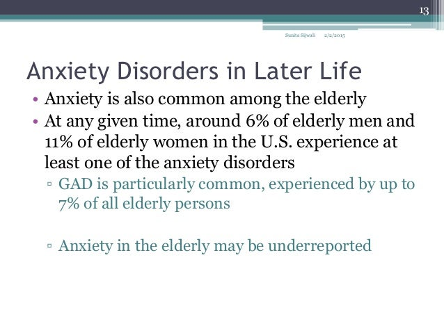 remedies for anxiousness in elderly adults