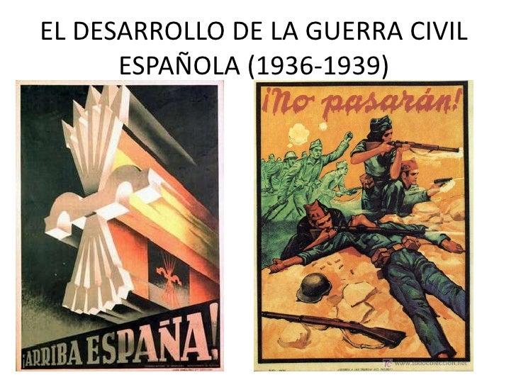 El desarrollo de la Guerra Civil Española