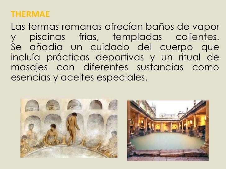 Baño De Vapor Romano:thermae br las termas romanas ofrecían baños de vapor y