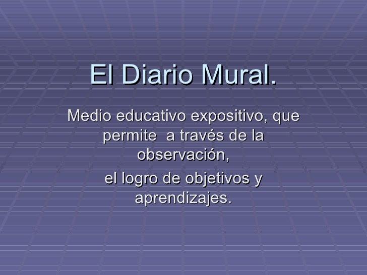 El diario mural for Estructura de un periodico mural