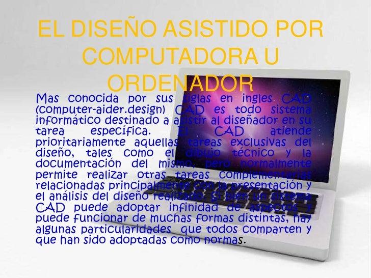 diseno asistido ordenador: