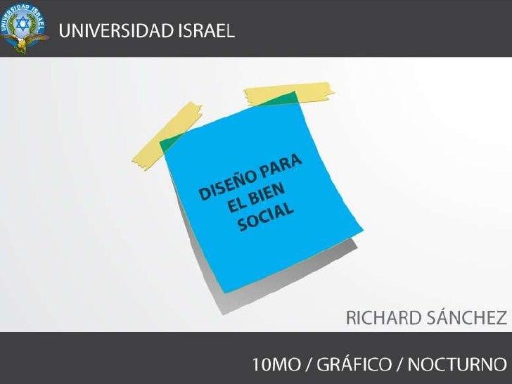 El Diseño para el bien social