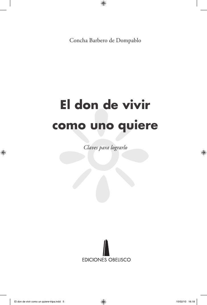 Concha Barbero de Dompablo                                '                                       El don de vivir         ...