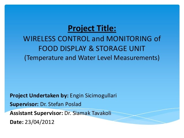 Project Presentation of Wireless Water Level & Temperature Measurements Using Xbee ZigBee and LabVIEW by Engin Sicimogullari