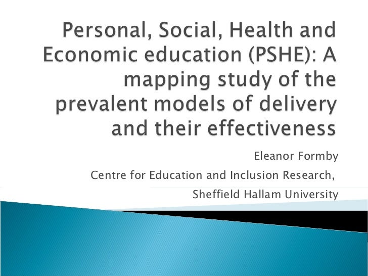 Eleanor Formby Centre for Education and Inclusion Research,  Sheffield Hallam University