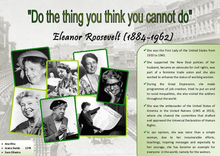 Eleanor Roosevelt (1884-1962)                                               She was the First Lady of the United States f...