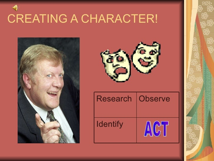 CREATING A CHARACTER! ACT Identify Observe Research