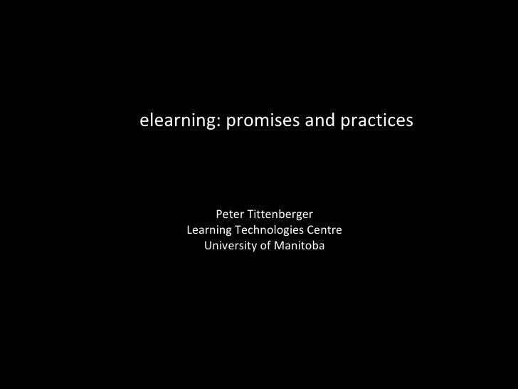 E-Learning Prácticas y Promesas