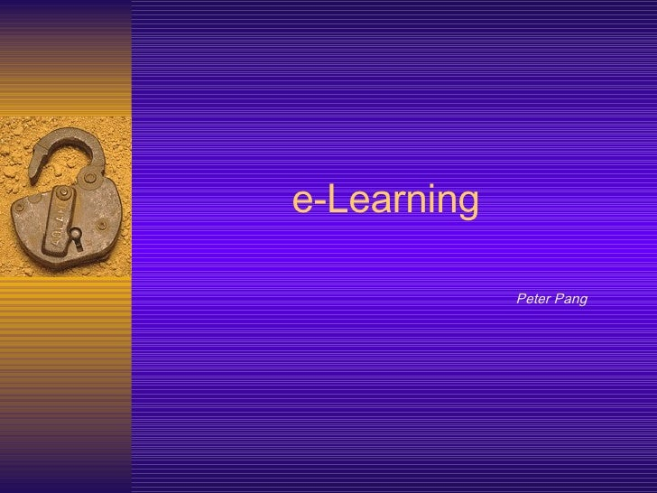 e-Learning Peter Pang