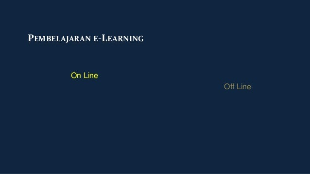 PEMBELAJARAN E-LEARNING        On Line                          Off Line