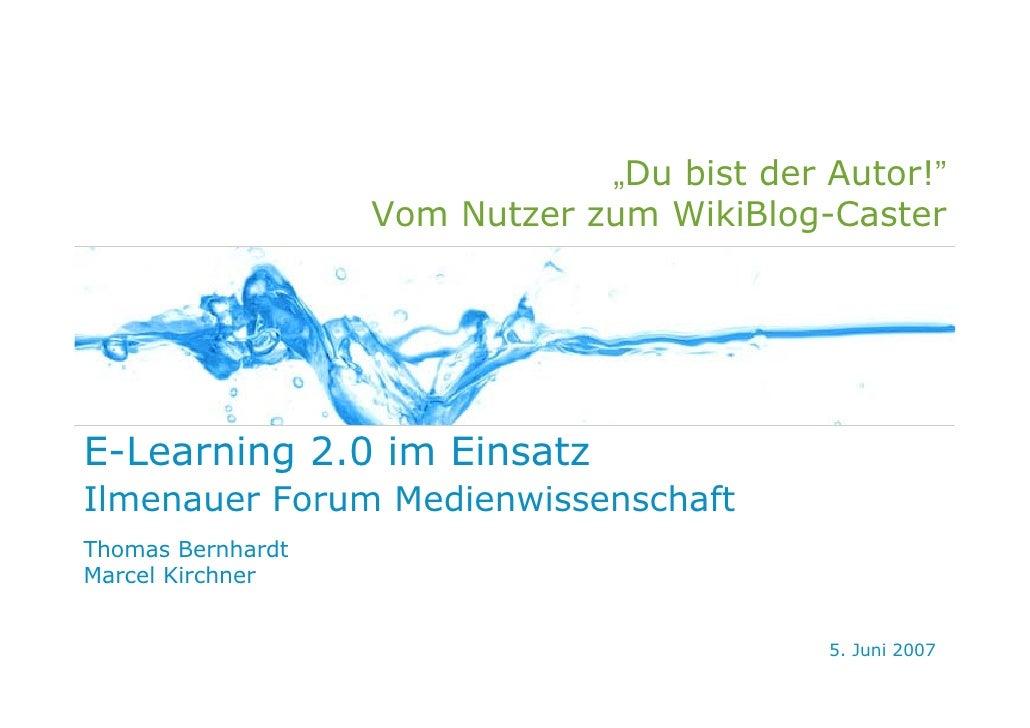 E-Learning 2.0 im Einsatz