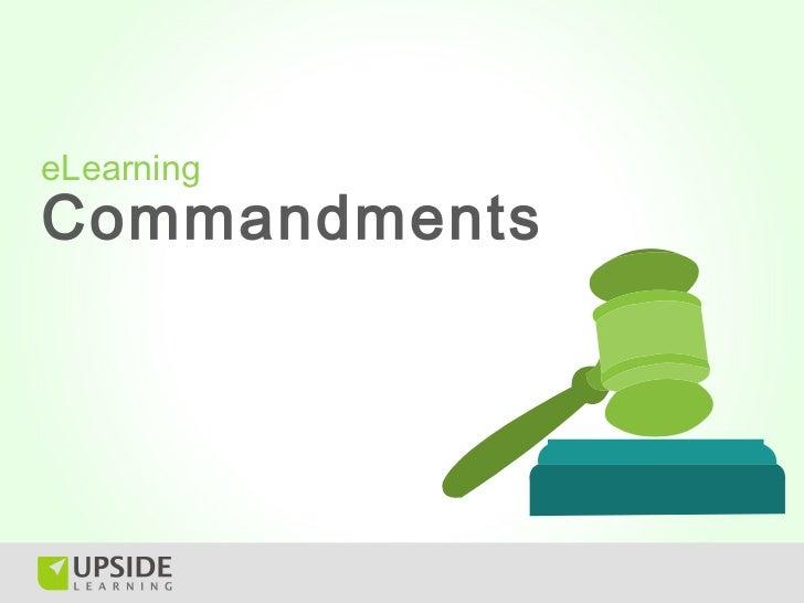eLearningCommandments