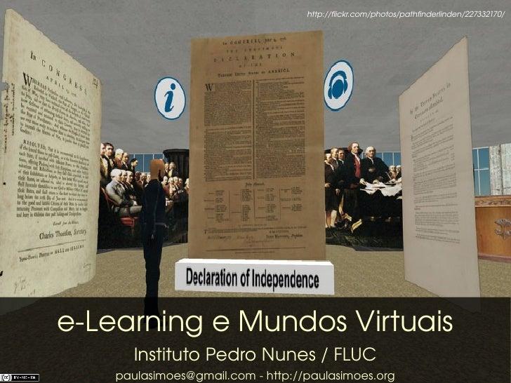 e-Learning e Mundos Virtuais