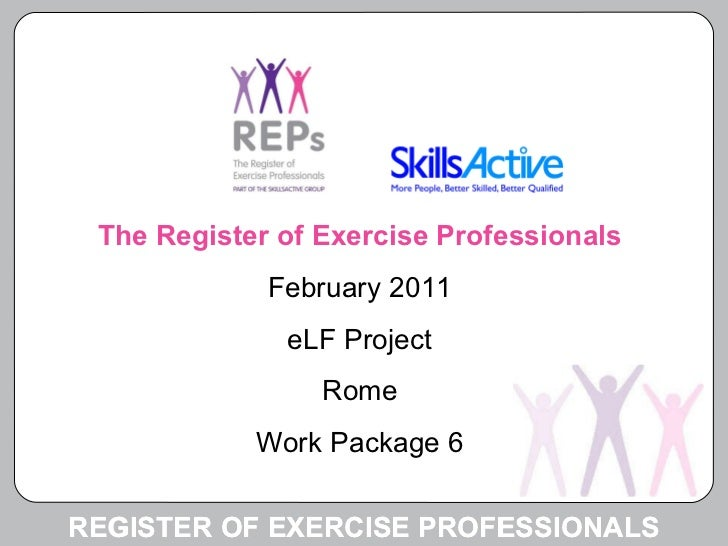 E learning fitness register of exercise professionals uk reps greenway marnoch