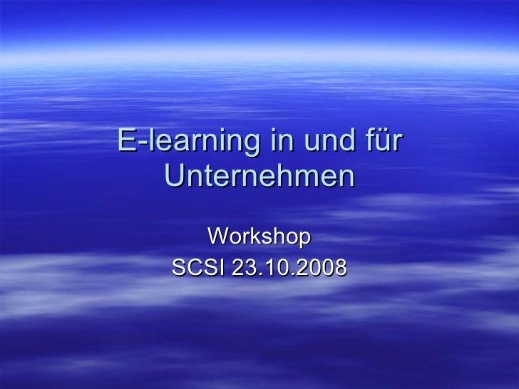 E Learning In Und Für Unternehmen