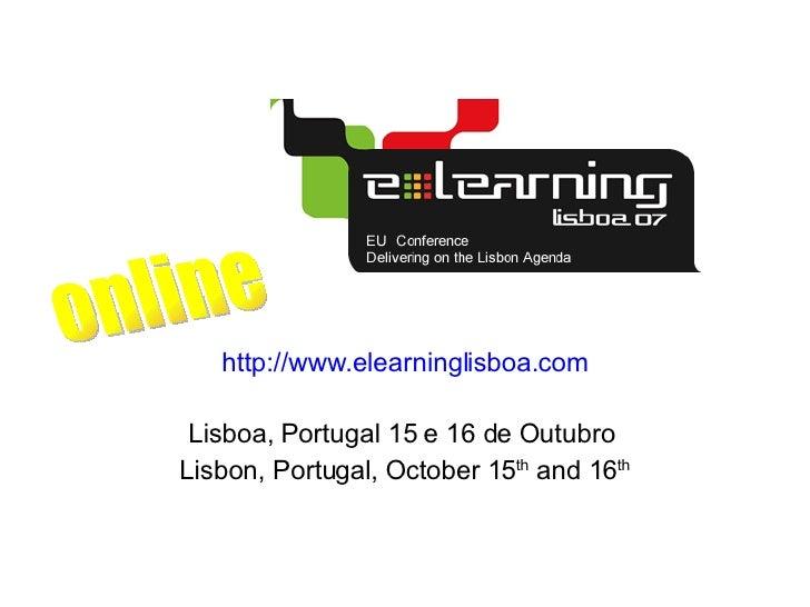 eLearning Lisboa07 - Online