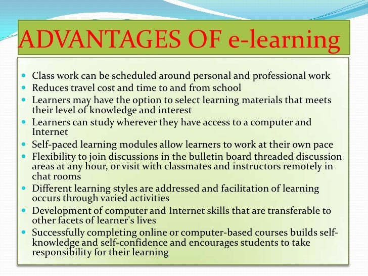 advantages disadvantages online learning essay